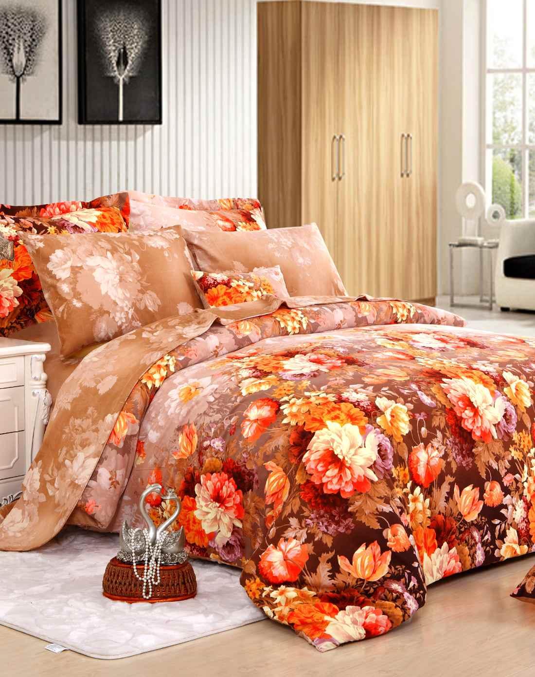 8m床全棉磨毛四件套-凡尔赛花园