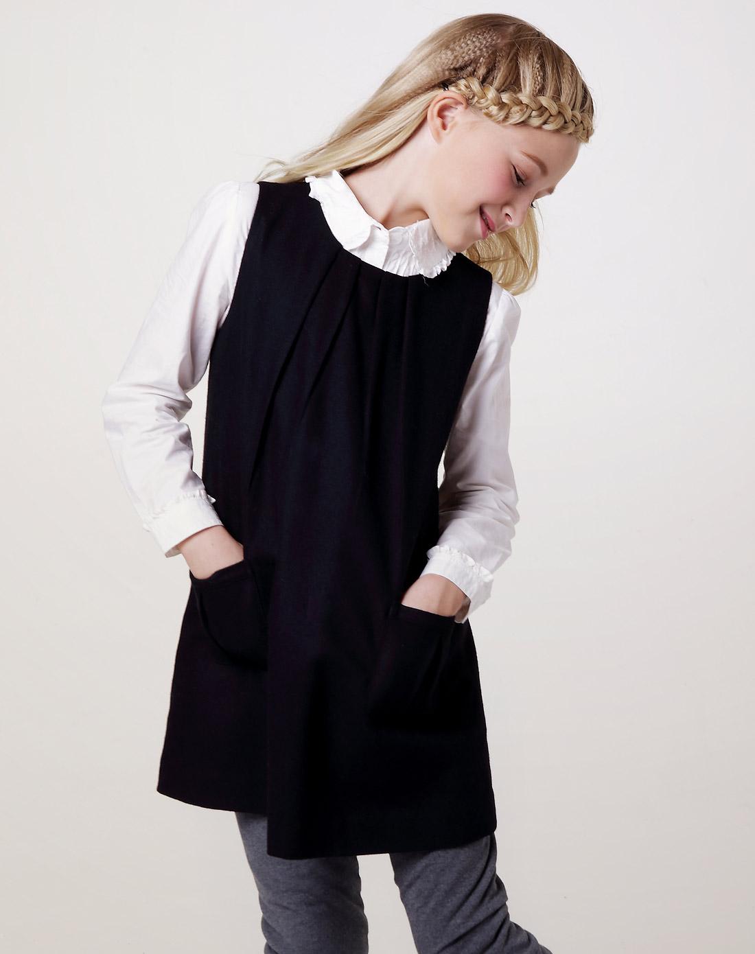 女童黑色礼裙】