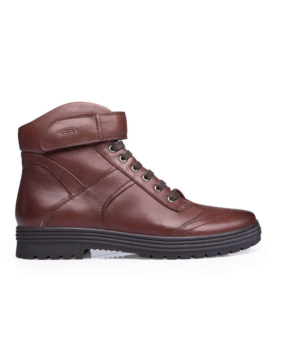 策恩ceen棕色牛皮英伦男式靴子军靴马丁靴x0179b