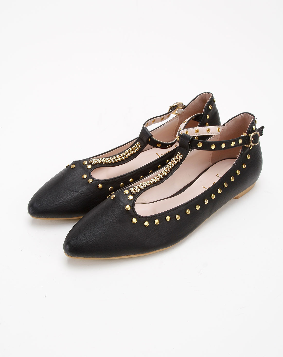 ggirl女款黑色休闲系列平底尖头鞋69121105700101