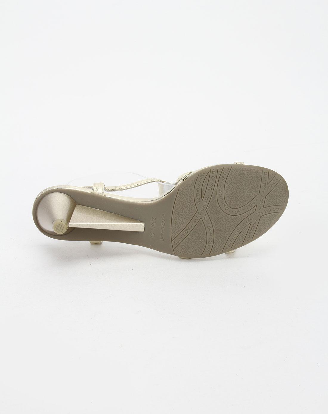 蜜丝罗妮marchiori金色气质高跟凉鞋22092301-0060