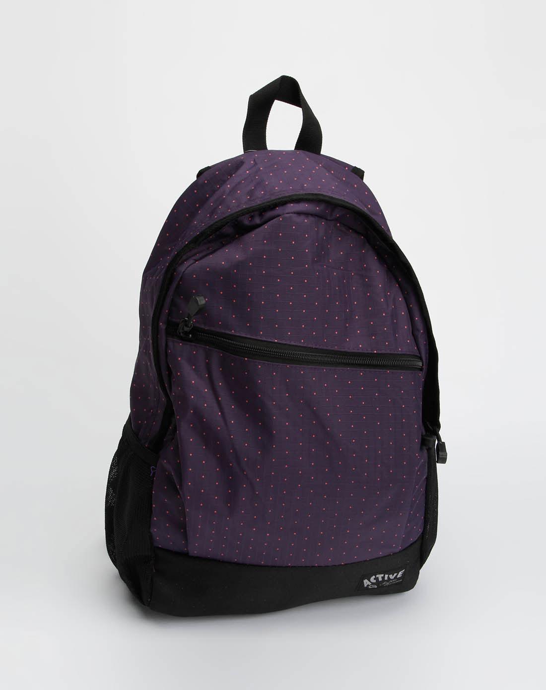 美特斯邦威metersbonwe男女装女款紫色双肩背包