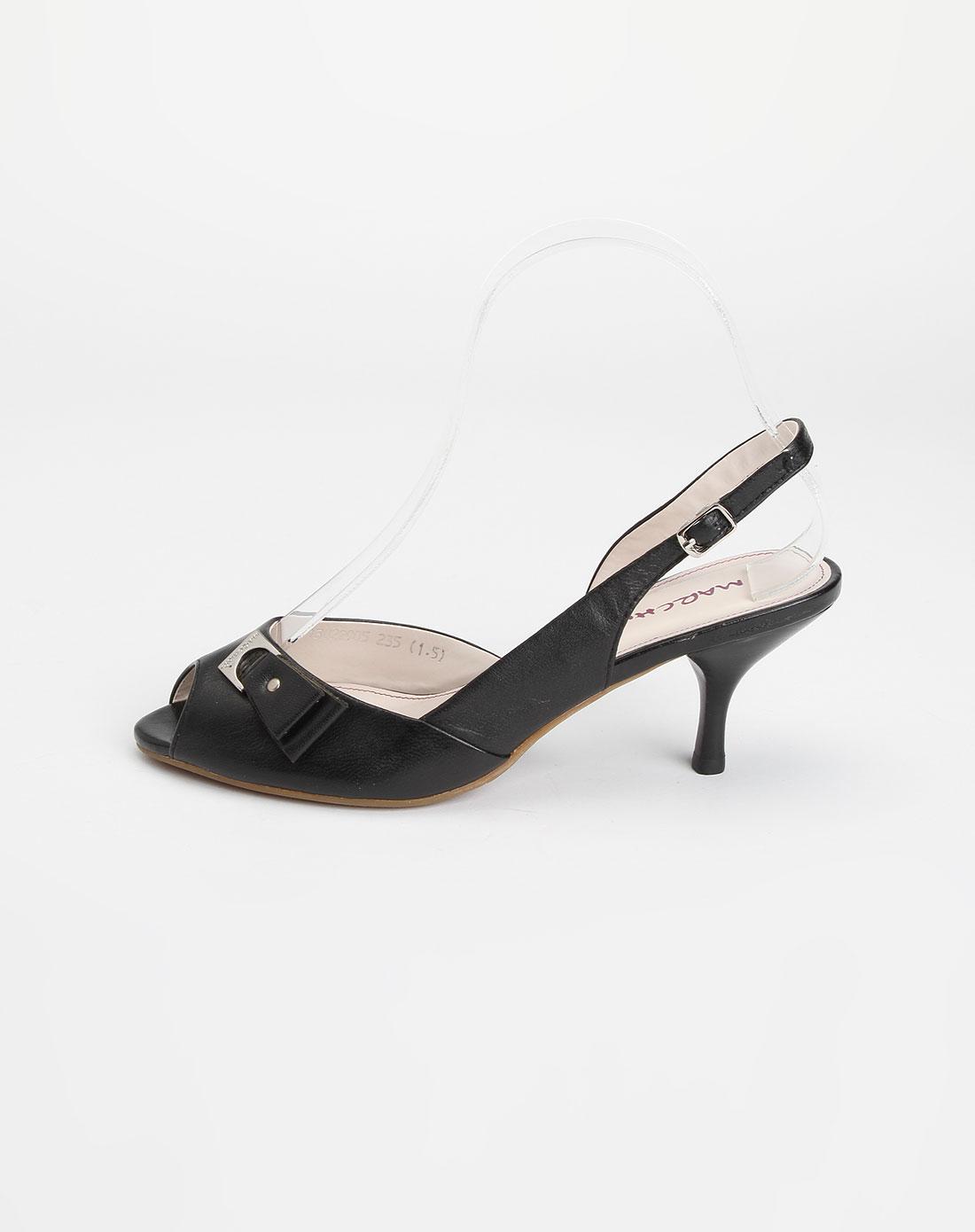 蜜丝罗妮marchiori黑色羊皮女凉鞋13022905-0001