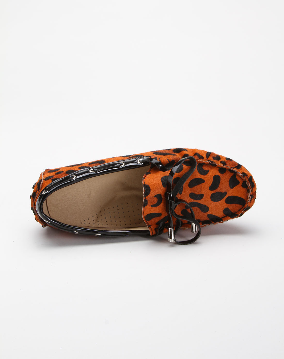 justivme豹纹橘色休闲鞋0018-1橘色豹纹