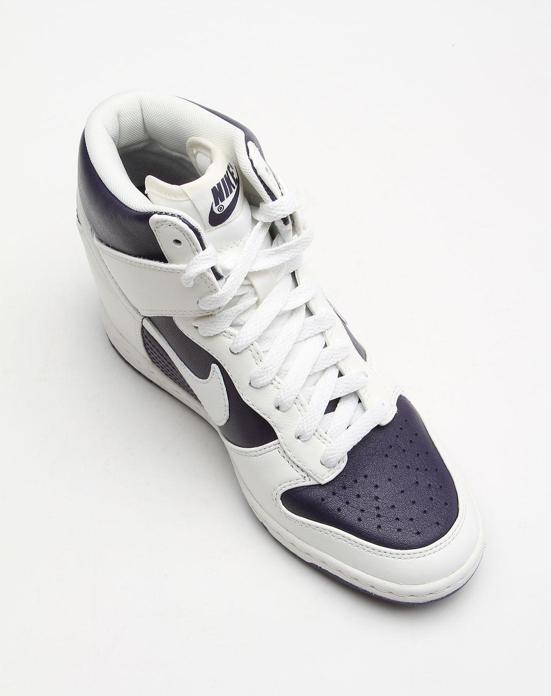 耐克nike-女款紫白色内增高文化鞋528899-500