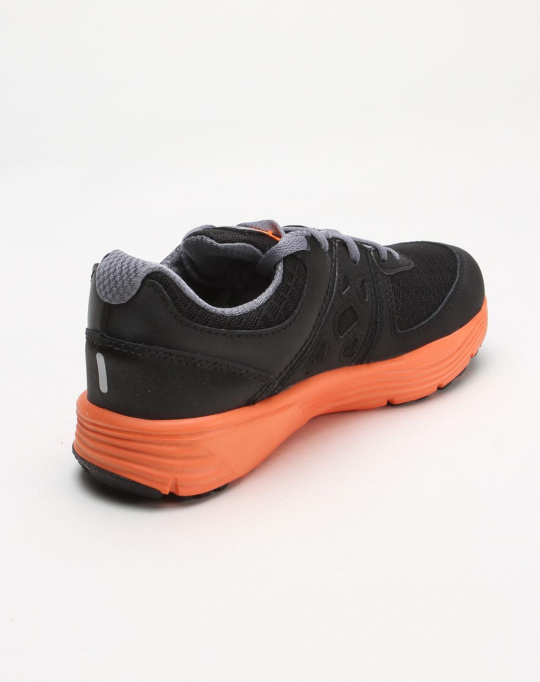 【耐克 儿童黑色透气运动鞋】