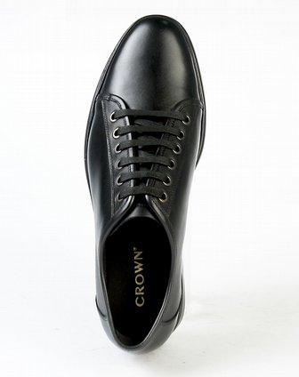 皇冠crown男款黑色单鞋21220031
