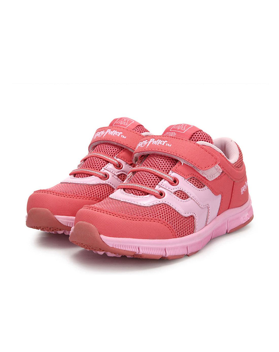 女童玫红网布鞋hp