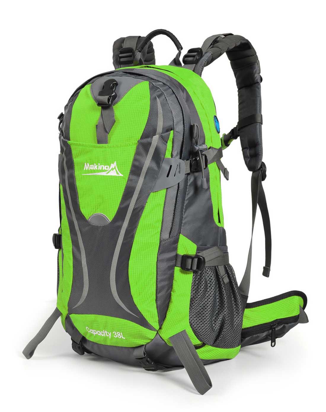 绿色旅行双肩包38l