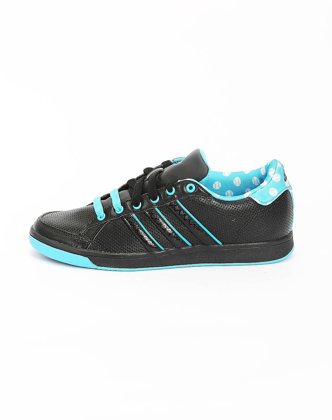 阿迪达斯adidas女子黑色网球鞋v24738