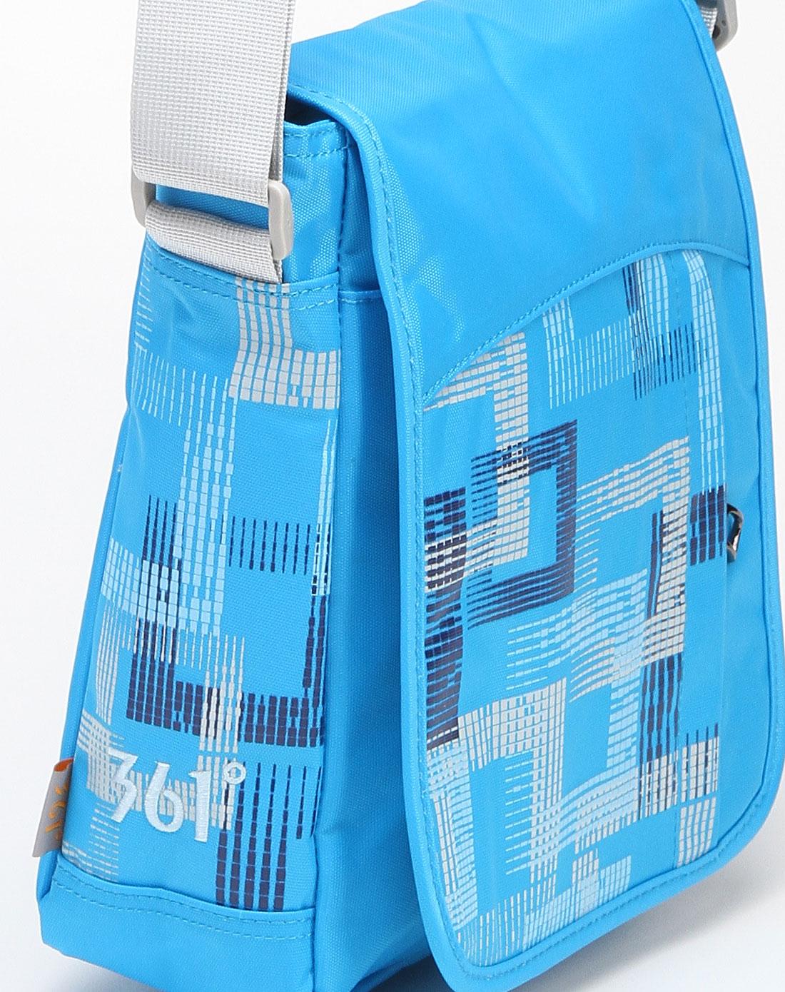 361°男女装中性蓝色多彩印纹小款斜挎包12311073300