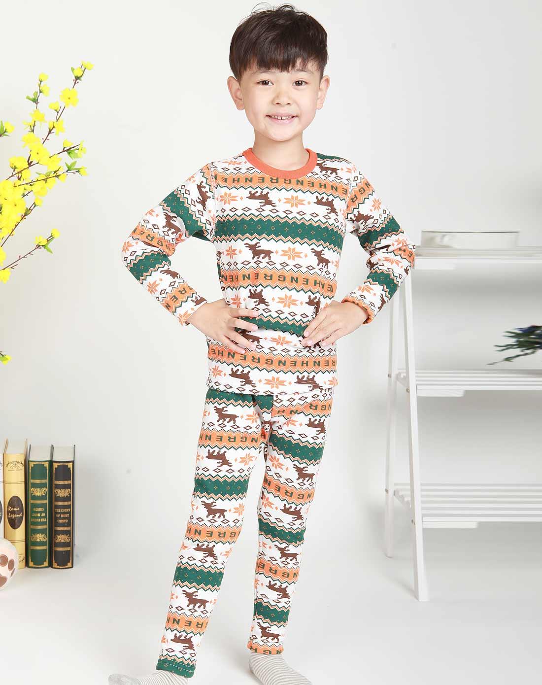 南极人njr儿童内衣专场儿童时尚保暖印花少儿内衣